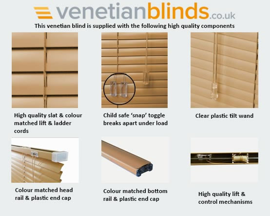 components for aluminium venetian blinds