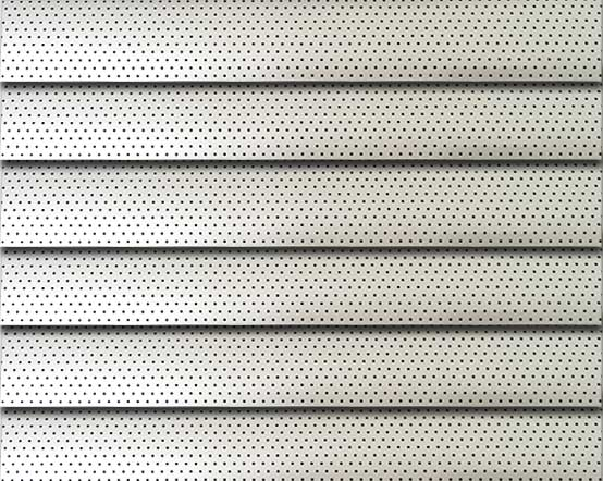 Perforated Silver Venetian Blinds By Venetianblinds Co Uk