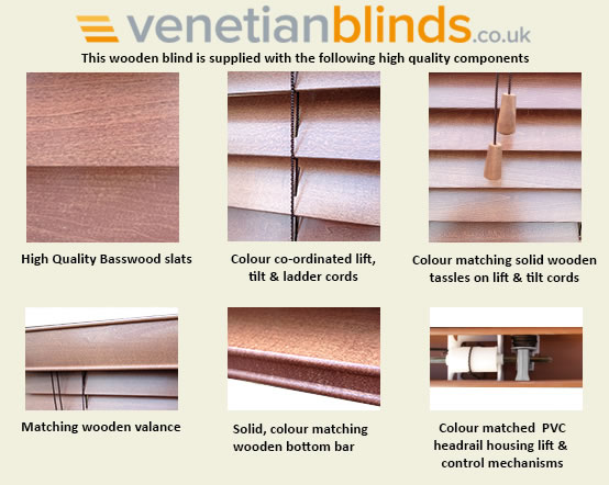 components for wooden blind